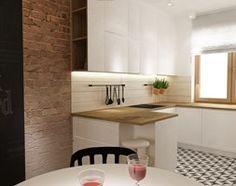 Aranżacje wnętrz - Kuchnia: Dom Brwinów 200 m2 - Mała otwarta wąska kuchnia w kształcie litery g, styl skandynawski - Grafika i Projekt architektura wnętrz. Przeglądaj, dodawaj i zapisuj najlepsze zdjęcia, pomysły i inspiracje designerskie. W bazie mamy już prawie milion fotografii!