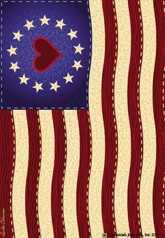 American flag #heart