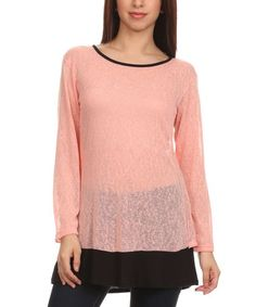This Pink & Black Cutout-Back Top is perfect! #zulilyfinds