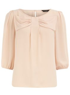 Blush bow front top from Dorothy Perkins