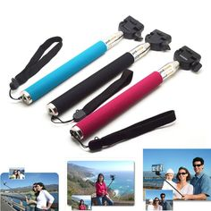 Portable Handheld Self-Timer Monopod Action Camera Tripod For GoPro, iPhone 4 5 and Samsung