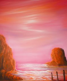 Zena Rowland - Pastel beach - oil painting on canvas