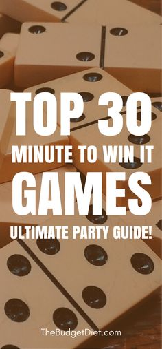 There are tons of Minute to Win It games and ideas that you can use to set up the ultimate game night at your house. Below you will find our picks for the top 30 Minute to Win It games.