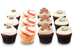 Holiday themed cupcakes from Georgetown Cupcakes