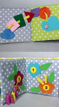 Toddler Quiet Book Busy Book Fabric Activity Book by PopelineCo