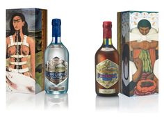 Casa Cuervo presents a special and limited edition of the Tequila Reserva de la Familia Extra añejo y Platino , with Diego Rivera's -Day of flowers- and Frida Kahlo's -Broken spine- most representative paintings