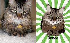 Custom pet portraits, animal artwork, and graphic designs.
