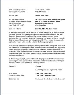 business letter format formal writing sample template amp layout letters block contract