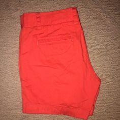 J Crew Chino Shorts Blood Orange size 2 never worn J. Crew Shorts