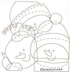 Artesanato almofada de Natal   Cacareco