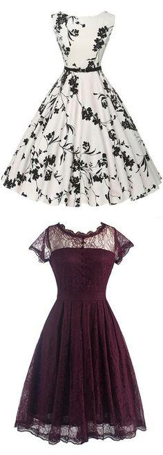 Would make lovely bridesmaid dresses ~ vintage dresses, retro dresses, 50s dresses, 1950s dresses