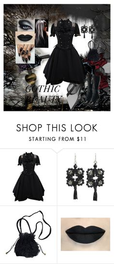 """""""Gothic Beauty"""" by harleyquinn-1970 ❤ liked on Polyvore featuring NOVICA"""