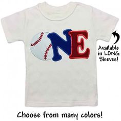 This 1st birthday baseball T-shirt is perfect for a sports themed birthday party. Make it even more special by choosing your child's favorite colors. They'll want to wear it all year long!