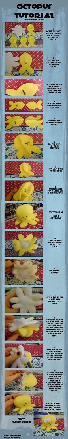 instructions to make a cool stuffed octopus. link to template: http://th08.deviantart.net/fs71/200H/i/2012/044/3/c/octopus_pattern_by_dux_x_bellorum-d4pnrw5.jpg