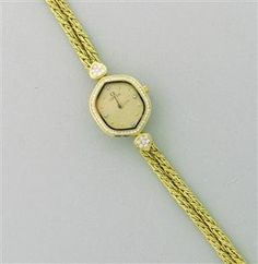 Ladies Omega Diamond 18k Gold Watch Bracelet starting bid $600/ July 21 @ hamptonauction.com