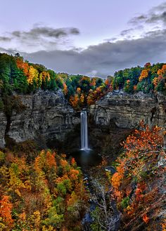 Taughannock Falls at Ithaca, NY - This stunning falls spans from top to bottom, making it even taller than Niagara Falls. The quick, paved, ten minute walk to the base of the falls makes this sight easily accessible to all. Beautiful Waterfalls, Beautiful Landscapes, Oh The Places You'll Go, Places To Travel, Camping Places, Nature Landscape, We Are The World, Belleza Natural, Nature Pictures
