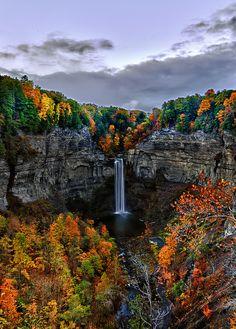 Taughannock Falls at Dawn, New York