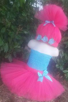 Poppy Troll Inspired Costume Poppy Tutu Dress Poppy Outfit