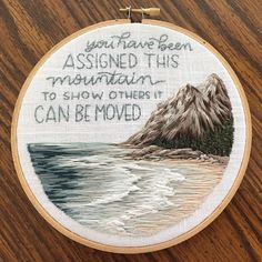 If you needed to hear this today, this one is for you 💙 (This lovely hoop was a custom piece that my mom and I collaborated on for one of… Word Art, My Mom, Diy Clothes, Collaboration, Cross Stitch, Instagram, Hoop, Inspirational Quotes, Embroidery
