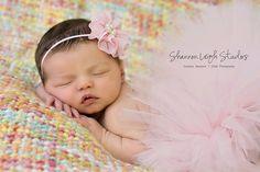 Tiny Dancer Ballerina Pink Tutu Newborn Tutu Custom Made With Matching Vintage Style Flower Headband Stunning Newborn Photo Prop. $40.00, via Etsy.