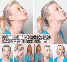 Double Chin Exercises, Face Exercises to Lose Chin Fat Jowl Exercises, Neck Exercises, Facial Exercises, Reduce Double Chin, Double Chin Exercises, Face Yoga, Workout Plan For Women, Anti Aging Facial, Facial Massage
