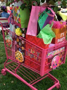 Shopping cart full of presents for Mikaela..!!?