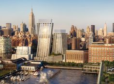 """""""bjarke ingels group releases details of its first new york condominium and hotel project"""" New York High Line, Big Architects, Brooklyn Bridge New York, Urban Concept, Most Luxurious Hotels, Vintage New York, Lower Manhattan, Condos For Sale, New York Travel"""