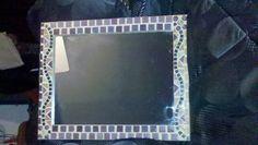 Espejo rectangular con teselas