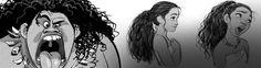 Expressões+e+poses+dos+personagens+Maui+e+Moana