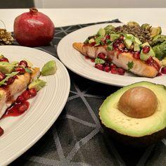 Saumon glacé à la grenade - michelerousseaudtp Valeur Nutritive, Baked Potato, Tacos, Potatoes, Mexican, Posts, Baking, Ethnic Recipes, Blog