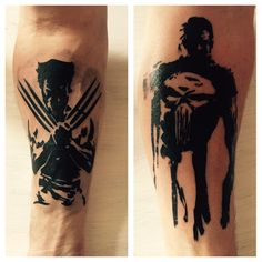 Tattoo Underarm Wolverine & Punisher