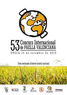 Cartel oficial del 53 Concurs Internacional de Paella Valenciana de Sueca 2013