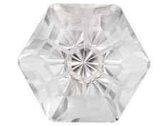 Cut By John Dyer, Brazilian Crystalline Quartz 72.07ct Frosted Snowflake(Tm) Cut
