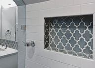 I would like tile like this for niche, surrounded by the white subway tiles...