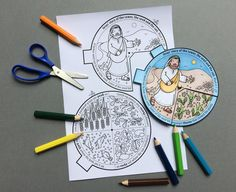The Parable of the Sower and the Soils colour in story wheel + colouring page and word search, based on the Bible story from Mark Sunday School Crafts For Kids, Bible School Crafts, Bible Crafts For Kids, Sunday School Activities, Bible Study For Kids, Bible Lessons For Kids, Bible Activities, Sunday School Lessons, Bible Story Crafts