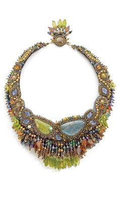 Single-Strand Necklace with Seed Beads, Pearls and Czech-Pressed Glass Beads - Fire Mountain Gems and Beads;  Sherry Serafini design;  Love her stuff