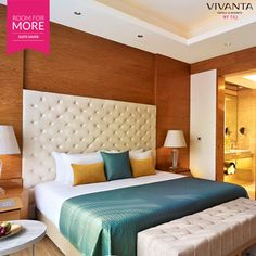 When you work like a boss why not live like one?  Enjoy the 'Suite Life' with our #RoomForMore offer at Vivanta by Taj – Gurgaon.  Book now: www.tajhotels.com/roomformore #Business #Hotel #Travel #Meetings #Work #WorkLife #Stay #BusinessTrips #Conference #Seminars