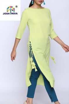 New Image : Salwar designs Salwar Designs, Kurta Designs Women, Kurti Designs Party Wear, Kurti Back Neck Designs, Latest Kurti Designs, Salwar Suit Neck Designs, Kurti Sleeves Design, Sleeves Designs For Dresses, Kurta Neck Design