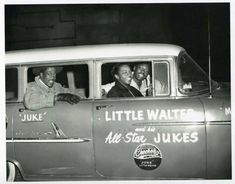 Little Walter and his band the Jukes, on the road.....no tour busses then...