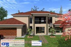 4 Bedroom House Plans, My House Plans, House Floor Plans, Dream Homes, My Dream Home, Iphone Wallpaper Bts, Double Storey House, African House, Tuscan House