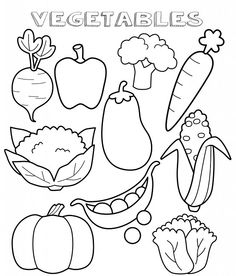 vegetable coloring pages free
