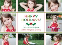 Holiday Cards - holly jolly from Kleinfeld Paper. Customize yours with Paper Passionista.