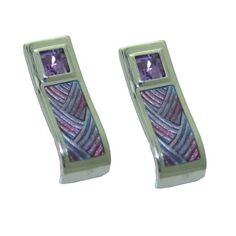 Amethyst Earrings in Sterling Silver https://www.goldinart.com/shop/earring/colored-gemstone-earrings/amethyst-earrings-in-sterling-silver #AmethystEarrings, #SterlingSilver