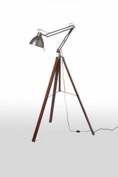 Industrial Tripod Floor Lamp - barbara cosgrove lamps