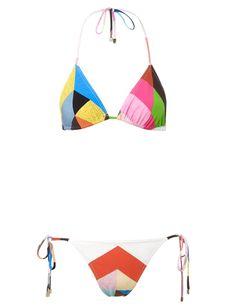 Multi Colour Tile Ava Bikini | Preen by Thornton Bregazzi | Avenue32
