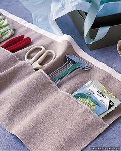 Gardener's Apron  A thoughtful gift for someone with a green thumb, this linen apron keeps gardening tools close at hand.  How to Make the Gardener's Apron