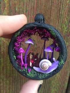 Magic portal necklace with purple aura by channelledcreations