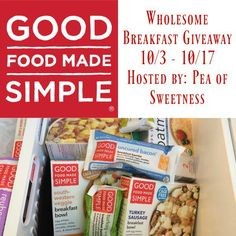 Three full product coupons you could win from Good Food Made Simple!