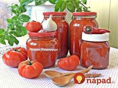 The sauce of tomatoes and peppers in the winter Gnocchi Recipes, Home Canning, Meals In A Jar, Yams, Kimchi, Hot Sauce Bottles, Preserves, Pickles, Good Food
