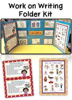 Teacherific: daily 5 work on writing folder kit
